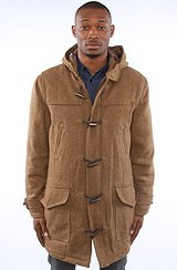 The Pearson Duffle Coat in Brown Caramel
