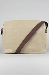 The Recon 15in Messenger Bag for iPad in Khaki Washed Canvas