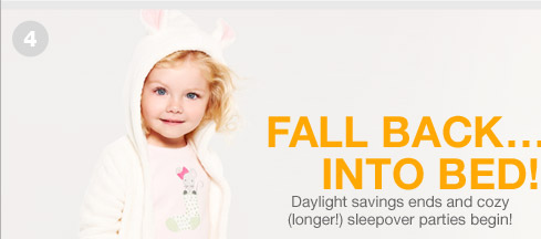 FALL BACK...INTO BED!