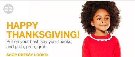 HAPPY THANKSGIVING | SHOP DRESSY LOOKS