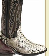 Men's Snake Skin Boots
