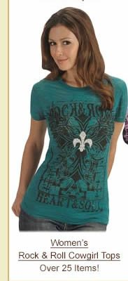 Women's Rock and Roll Cowgirl Tops