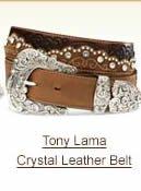 Tony Lama Crystal Leather Belt