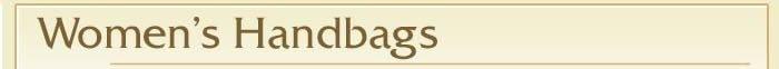 Women's Handbags Header