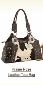 Prairie Rose Leather Tote Bag
