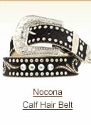 Nocona Calf Hair Belt