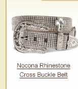 Nocona Rhinestone Cross Buckle Belt