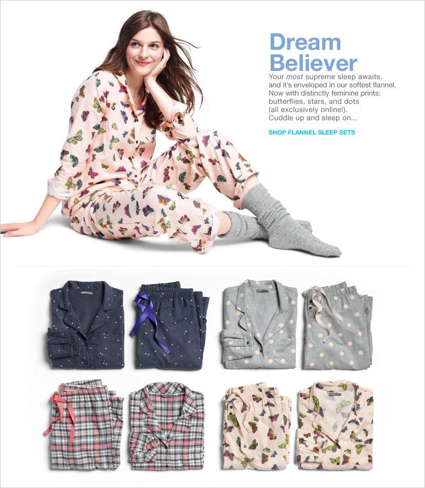 DREAM BELIEVER | SHOP FLANNEL SLEEP SETS