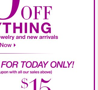 Enjoy 40% Off EVERYTHING in-store & online! Only for a limited time. Shop Now!