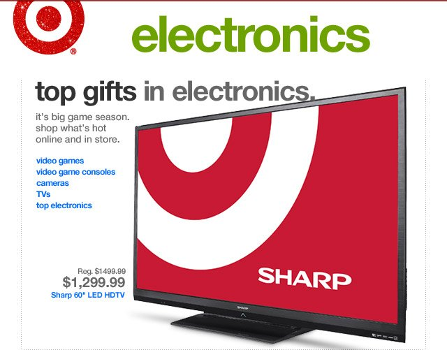 TOP GIFTS IN ELECTRONICS.