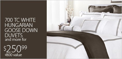 White Hungarian Goose Down Duvets & More