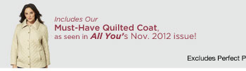 40% off Our Must-Have Quilted Coat!