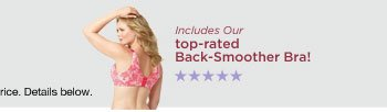 40% off Our Top Rated Back-Smoother Bra