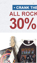 All Rock Tees are 30% Off