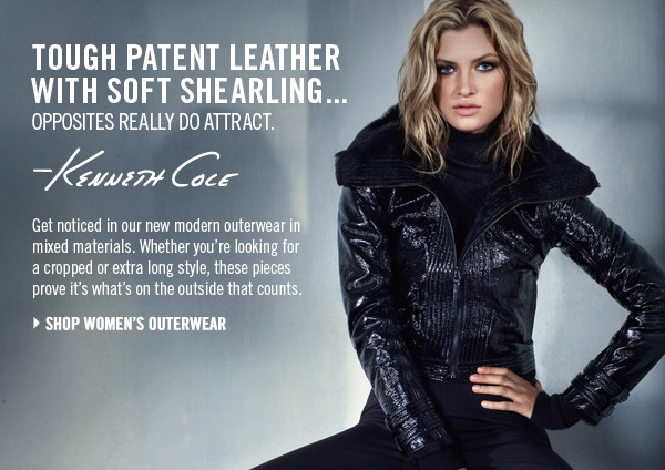 Tough patent leather with soft shearling…opposites really do attract