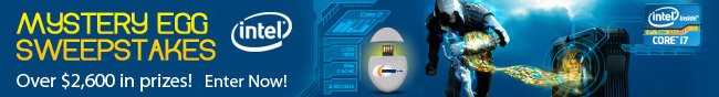 Intel - MYSTERY EGG SWEEPSTAKES. Over $2,600 in prizes! Enter Now!.