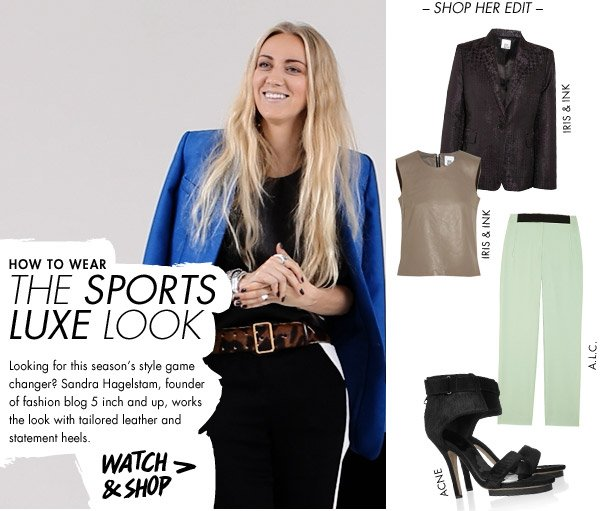 How to wear sports luxe
