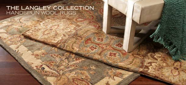 THE LANGLEY COLLECTION: HANDSPUN WOOL RUGS, Event Ends November 6, 9:00 AM PT >