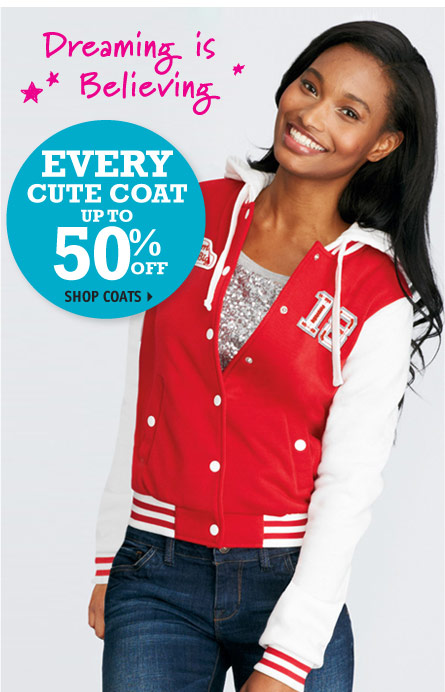 EVERY CUTE COATUP TO 50%  OFF