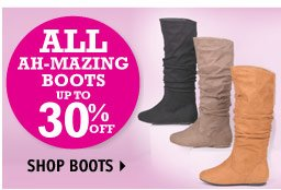 BOOTS UP TO 30% OFF