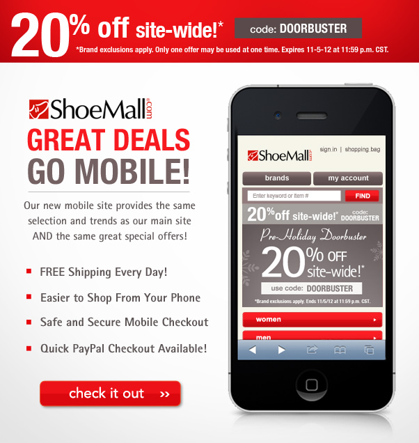 ShoeMall goes mobile!