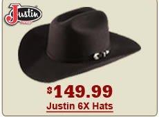 149.99 justin 6x hat