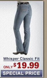 Whisper classic fit womens jeans