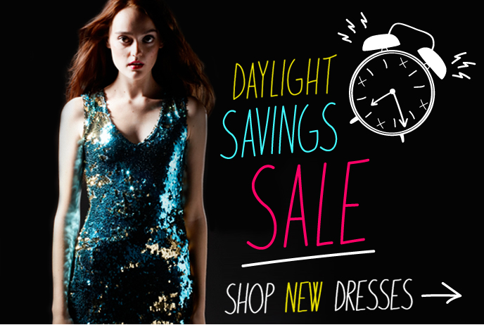 Today at fredflare... DAYLIGHT SAVINGS SALE!