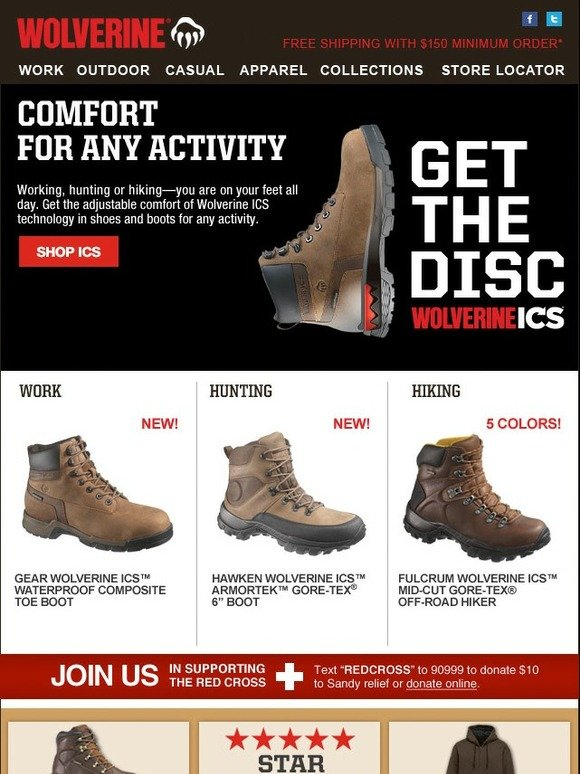 e8211aac4a3 Wolverine: Comfort For Any Activity | Milled