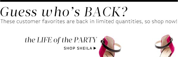 Life of the Party. Shop Sheila