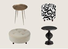 Tie the Room Together Ottomans & Accent Tables