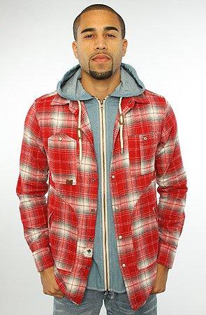 The Denim Shirt Lined Flannel Buttondown Shirt in Crimson
