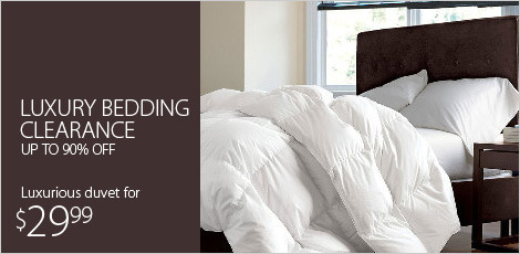 White Sale: Luxury Bedding Clearance