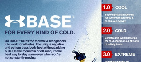 UA BASE™ - FOR EVERY KIND OF COLD.