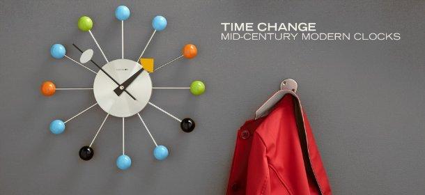 TIME CHANGE: MID-CENTURY MODERN CLOCKS, Event Ends November 9, 9:00 AM PT >