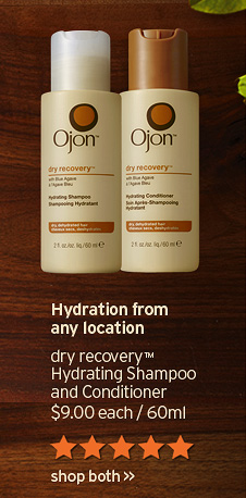 Hydration from any location dry recovery Hydrating Shampoo and Conditioner 9 dollars each 60ml shop both