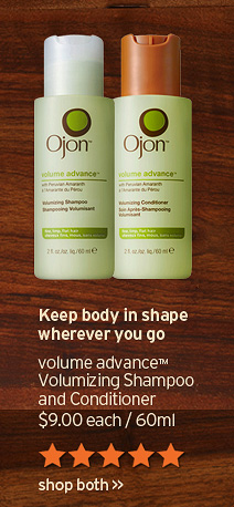 Keep body in shape wherever you go volume advance Volumizing Shampoo and Conditioner 9 dollars each 60ml shop both