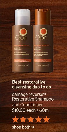Best restorative cleansing duo to go damage reverse Shampoo and Conditioner 10 dollars each 60ml shop both