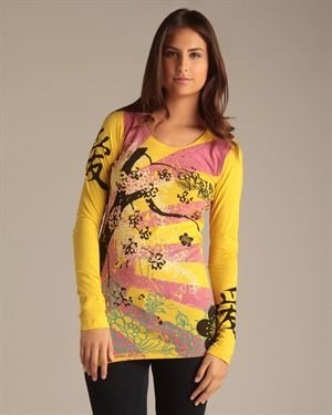 Crystal Rock by Christian Audigier Long Sleeve Top - Made in USA $12