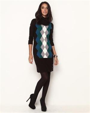 Sandra Darren Argyle Sweater Dress $35