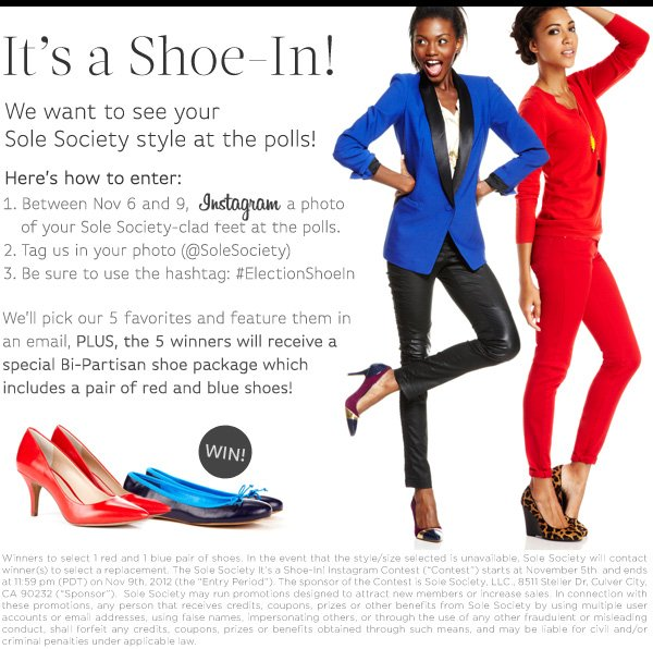 It's A Shoe-In! Instagram Contest