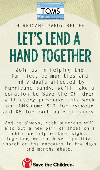 Hurricane Sandy Relief - Let's lend a hand together
