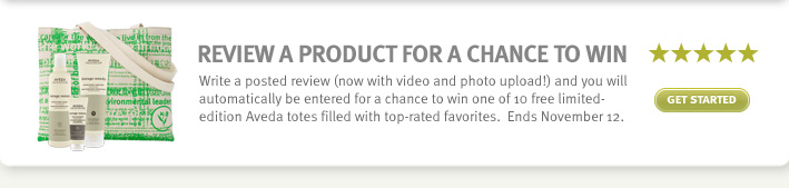 Review a product for a chance to win. get started.