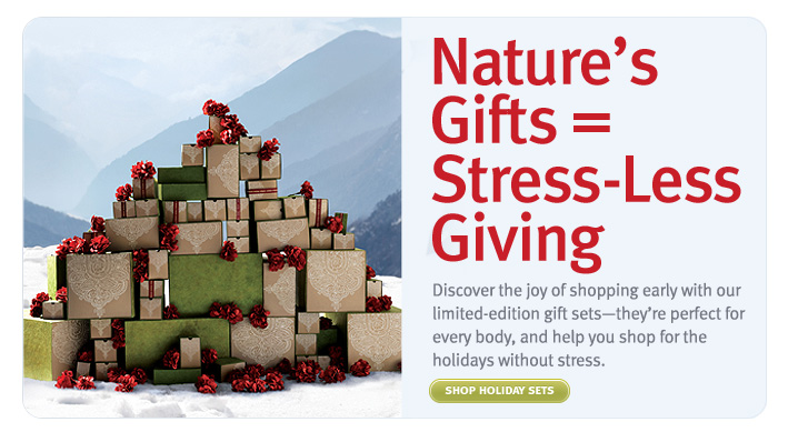 Nature's Gifts = Stress-Less Giving. shop holiday sets.