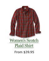 Women's Scotch Plaid Shirt, from $39.95