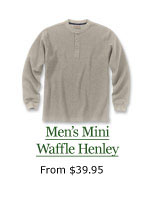Men's Mini Waffle Henley, from $39.95