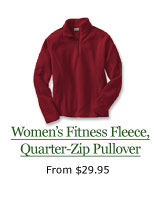 Women's Fitness Fleece, Quarter-Zip Pullover, from $29.95
