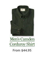 Men's Camden Corduroy Shirt, from $44.95