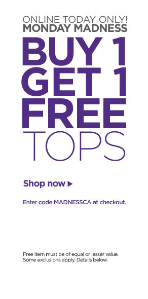 Monday madness: Buy One Get One Free Tops!