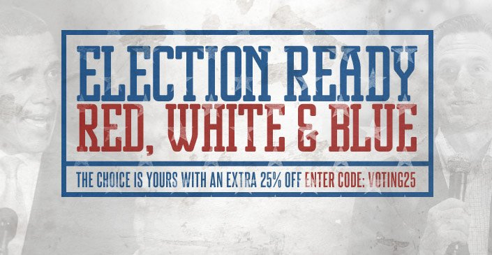 Election Ready: Red, White & Blue